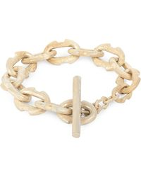 Parts Of 4 | Metallic Acid-wash Silver-plated Toggle Bracelet | Lyst