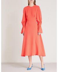 Roksanda Pink Duana Silk-crepe Dress