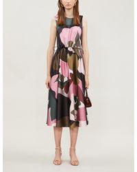 Ted Baker Multicolor Sofija Maple Swirl Midi Dress
