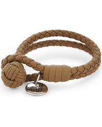 Bottega Veneta - Multicolor Double Woven Leather Bracelet - Lyst