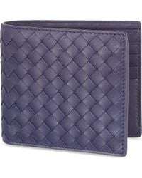 Bottega Veneta | Blue Intrecciato Leather Wallet | Lyst