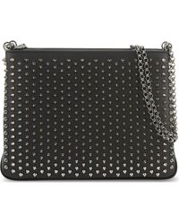 Christian Louboutin - Black Triloubi Large Studded Shoulder Bag - Lyst
