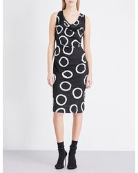 Vivienne Westwood Anglomania Black Virginia Circle-print Poplin Dress