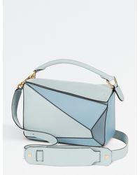 Loewe Blue Puzzle Shoulder Bag