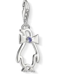 Thomas Sabo - White Charm Club Silver Jewelled Penguin Charm - Lyst