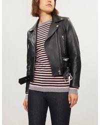 Bella Freud - Black Lurex-trim Striped Wool Cashmere Jumper - Lyst
