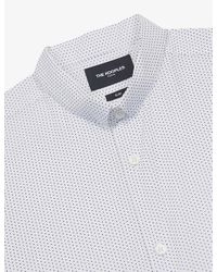 The Kooples White Striped Slim-fit Knitted Shirt for men