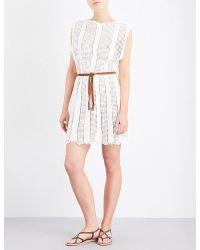 Zimmermann - Natural Caravan Crochet Dress - Lyst
