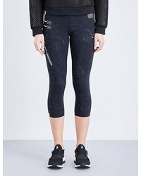 Monreal London | Black Urban Cropped Stretch-jersey Leggings | Lyst