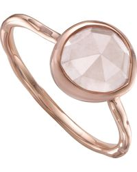Monica Vinader Pink Siren Rose-gold Vermeil And Rose Quartz Stacking Ring