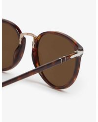 Persol Brown Po3210 Typewriter Edition Round-frame Sunglasses for men