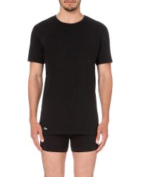 Lacoste | Black Pack Of Two Cotton-jersey T-shirts for Men | Lyst