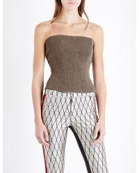 Haider Ackermann Multicolor Calhoun Wool-blend Bustier Top