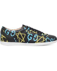 Gucci   Blue X Ghost Bambi Leather Traienrs for Men   Lyst