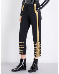 A.F.Vandevorst - Black Military Tapered Gabardine Trousers - Lyst