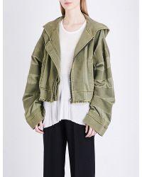 Haider Ackermann Green Polonium Cotton Hoody