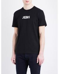 Givenchy Black Judas-print Cotton-jersey T-shirt for men