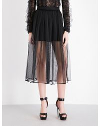 Givenchy Black High-rise Pleated Tulle Skirt