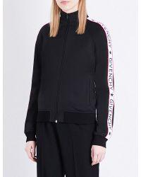 Givenchy Black Logo-trim Shell Bomber Jacket