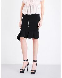 Givenchy Black Zip-detail Stretch-jersey Skirt