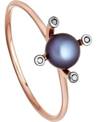 Astley Clarke | Blue Black Pearl Pluto 14ct Rose Gold Ring | Lyst