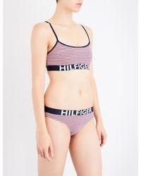 2fd3f6f6ffb01 Tommy Hilfiger Ladies Striped Iconic Stretch-cotton Bralette in ...