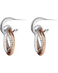 Links of London | Metallic Aurora Sterling Silver And 18ct Rose Gold Vermeil Hoop Earrings | Lyst