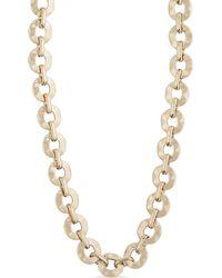 Max Mara - Metallic Ladies Luxury Tobacco Chain Necklace - Lyst