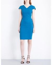 Roland Mouret | Green Tournay Wool-crepe Dress | Lyst
