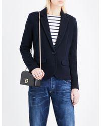 Whistles Blue Slim-fit Cotton-jersey Jacket