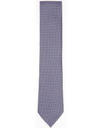 Ermenegildo Zegna | Purple Geometric Pattern Silk Tie for Men | Lyst