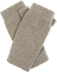 Johnstons - Gray Plain Cashmere Wristwarmers - Lyst