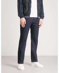 Emporio Armani Blue J21 Comfort Regular-fit Straight Jeans for men
