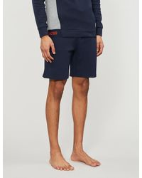 BOSS by Hugo Boss Blue Relaxed-fit Cotton-piqué Shorts for men