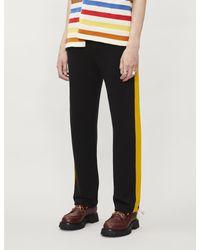 Marni Black Side-striped Cotton-jersey jogging Bottoms for men