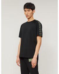 Fendi Black Graphic-print Cotton-jersey T-shirt for men