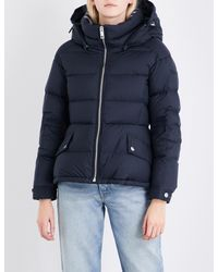 Burberry - Blue Fleetwood Quilted Down And Feather-blend Puffer Jacket - Lyst