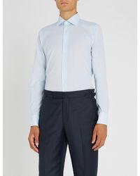 Richard James - Blue Dotted Slim-fit Cotton Shirt for Men - Lyst