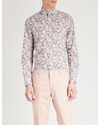 Paul Smith White Liberty Paisley-print Slim-fit Cotton-voile Shirt for men