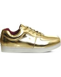 Irregular Choice | Metallic State Of Flux Light-up Leather Trainers | Lyst