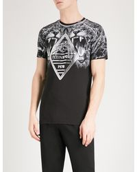PHILIPP PLEIN Mens Tracksuit Skull T shirt and Shorts Set Cotton Top fitted