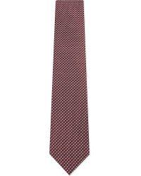 Lanvin - Red Spot Print Silk Tie for Men - Lyst