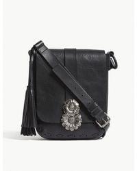 Saint Laurent Black Besace Leather Shoulder Bag