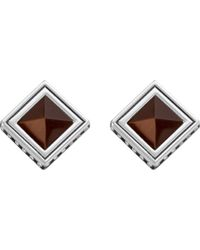 Thomas Sabo - Metallic Africa Brown Sterling Silver And Tiger's Eye Earrings - Lyst