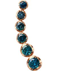 Annoushka | 18ct Rose Gold And Blue Diamond Right Ear Pin | Lyst