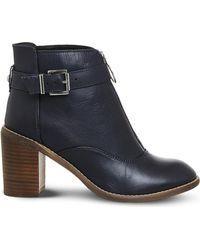 Office   Blue Lottie Front Zip Smart Boots   Lyst