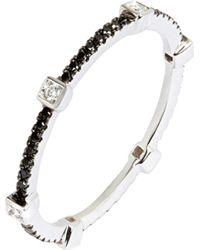 Annoushka - Multicolor Pavilion Black Diamond 18ct White Gold Eternity Ring - Lyst