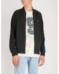 Stussy Black Side-stripe Jersey Track Jacket for men