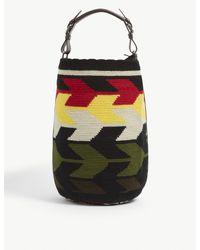 Colville Multicolor Jacquard-pattern Cotton Cylinder Bag