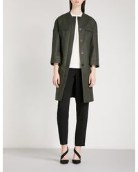 Cefinn - Multicolor Belted Cocoon Wool-blend Coat - Lyst